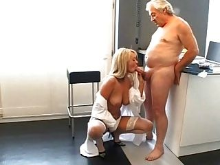 Young Blond Fucking Old Dude