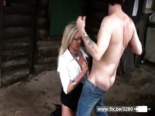 Vanessa A Blonde Milf Fucked Outdoor