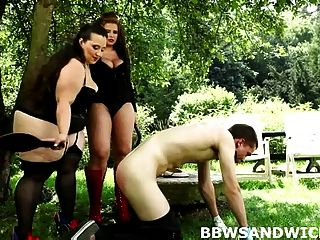 Fat Bbw Dominas Torturing And Face Sitting Their Boy Toy