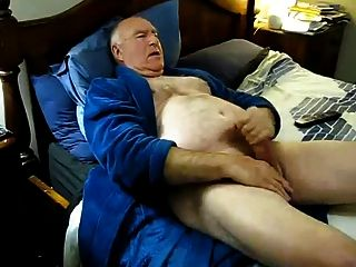 Old Man Jerking Off Until He Cums