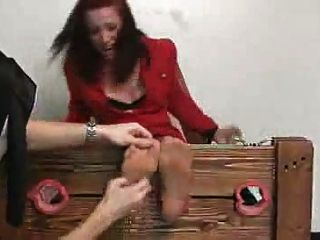 Woman With Ticklish Soles