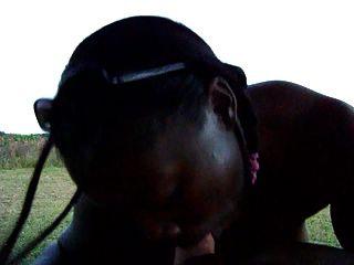 Wicked Punani Sexy Ebony Milf Interracial Blow Job Outside