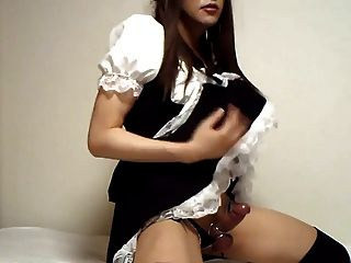 Amateur Japanese Cd Maid Outfit Jo