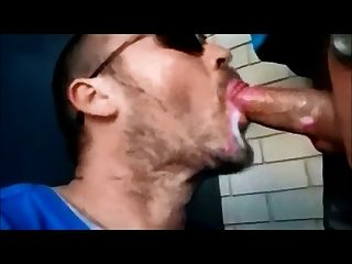 Cum Pig In Public Bathroom With Glory Hole