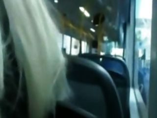 Girl Gives Blowjob In Public Bus