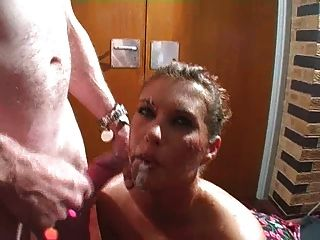 Bitch Gets Gang Bang Facials Part 2