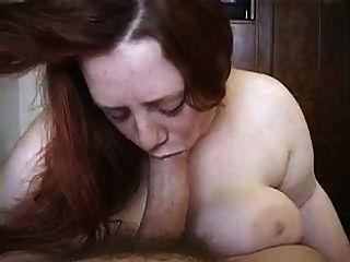 Redhead bbw sucking dick