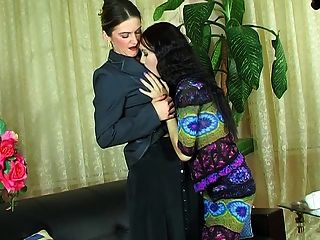 Mature Russians Kissing