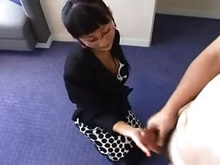 Japanese Mum Makes Him Cum !