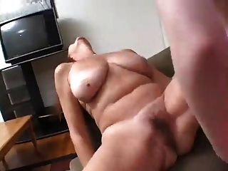 Old Chubby Mature Fucked By Young Girl