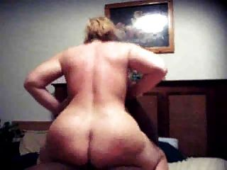Fat Ass Mature Riding Black Cock