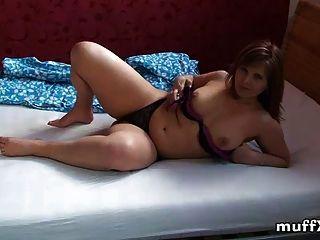 Chubby Milf Marie Jeanne Fondles Her Body