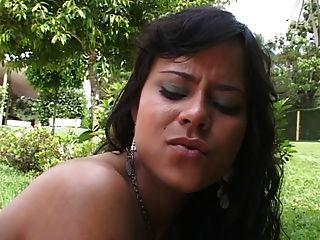 Perky Tit Little Anal Slut Loves Getting Her Tattooed Ass Fucked Hard Outside