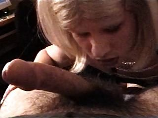 Vintage Carli In Leather Getting Facial From A White Guy