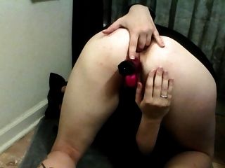 Dp With My New Pink Toy In My Pussy And A Blue Toy In My Ass