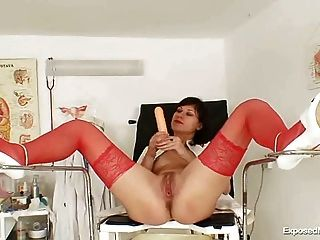 Filthy Nurse Pussy Spreading And Masturbation