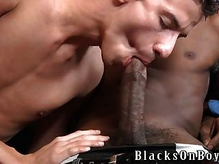 Skinny White Boy Fucked By Big Black Dick For The First Time