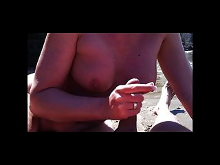Handjob On The Beach