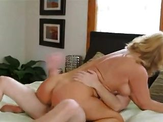 Stunning Old Lady Loves Younger Cock