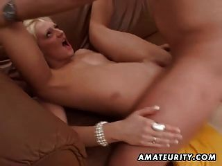 Hot Blonde Amateur Girlfriend Sucks And Fucks With Facial