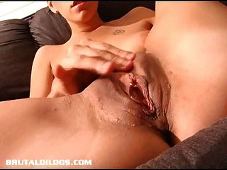 Pamela Filling Her Once Tight Pussy With A Massive Dildo