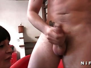 Big Boobed French Mom Hard Anal Fucked And Double Penetrated