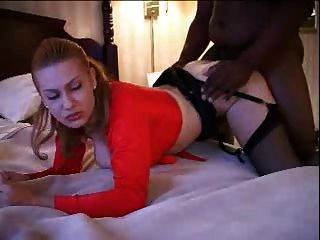 Interracial Breeding And Creampie In Stockings.