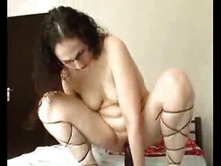 White Milf Riding A Huge Black Dildo