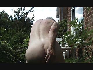 Butt Plug And Outdoor Wank