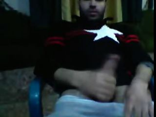 Hot Syrian Guy Wanks On Cam