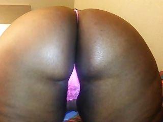Sexy Black Bbw In Pink