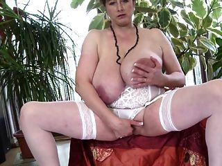 Posh Mother With Huge Boobs And Hairy Pussy