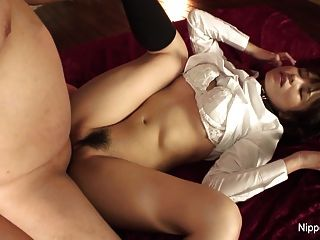 Hot Little Asian Schoolgirl Gets Her Hairy Pussy Creamed