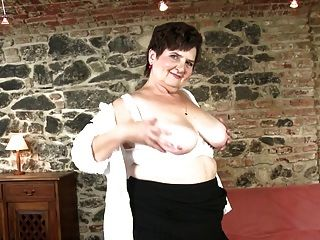 Real Granny With Hairy Cunt And Big Boobs