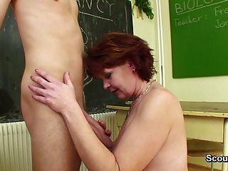 German Mom Teach Young Boy How Two Fuck Hardcore Without Con