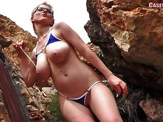 Casey Deluxe - Blue Bikini Dance ... Nude Version