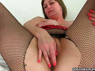 British milf april rips her tights for easy access 4