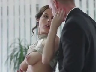 Divine Secretary In Lingerie And Stockings Seduces Her Boss