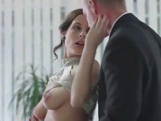 Divine Secretary In Lingerie And Stockings Seduces Her Boss