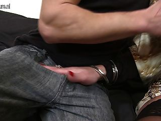 Mature Mother Fucking And Sucking Her Younger Lover
