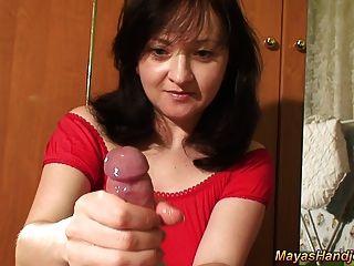 Maya Giving Nice Handjob