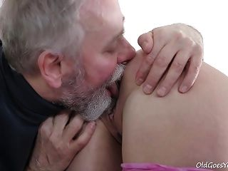 Old Goes Young Guy Makes Polina Want Him Badly By Sucking He