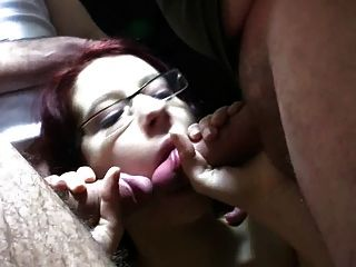 Amateur - What A Sport - Big Boob Brunette Bukkake