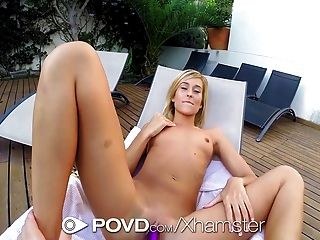 Povd - Blonde Lola Reve Gets Fucked By The Pool Pov Style