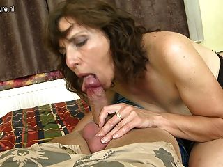 Lucky Son Fucks Mature Not His Mother