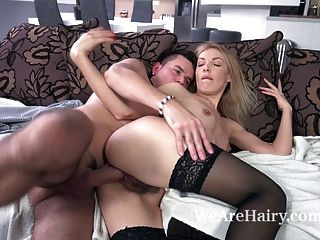 Gina Monelli Treats Her Man To Hot Sex And Orgasms