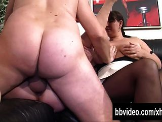 Bi German Slags Masturbating In Threesome