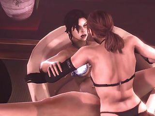 Futa Quiet X Lara Croft