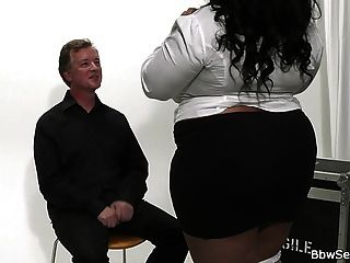 Husband Cheats With Big Titted Ebony Plumper