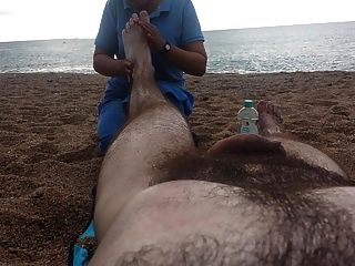 Nude Massage On The Beach